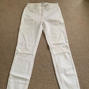 Paige White Skinny Jeans Sz 24
